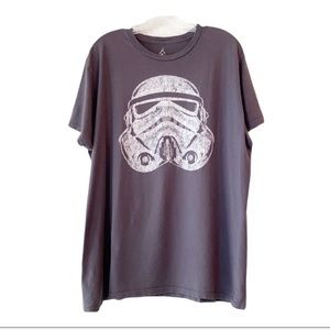 Disney Star Wars Stormtrooper Gray T-shirt SZ XL